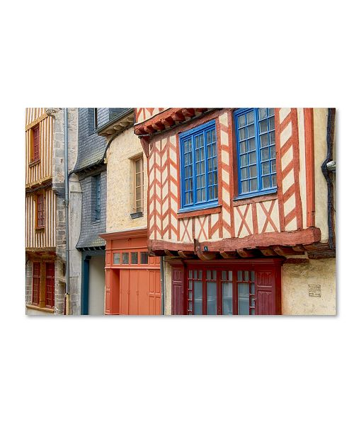 "Trademark Global Cora Niele 'Historic Houses Of Vitre' Canvas Art - 19"" x 12"" x 2"""