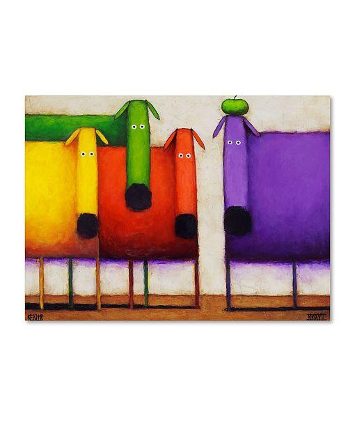 "Trademark Global Daniel Patrick Kessler 'Rainbow Dogs' Canvas Art - 19"" x 14"" x 2"""