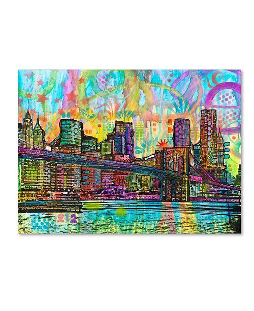 "Trademark Global Dean Russo 'NYC Brooklyn Bridge' Canvas Art - 32"" x 24"" x 2"""