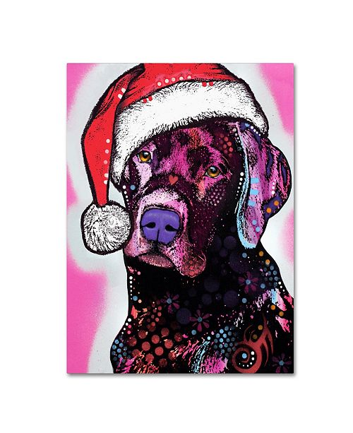 "Trademark Global Dean Russo 'Black Lab Christmas' Canvas Art - 32"" x 24"" x 2"""