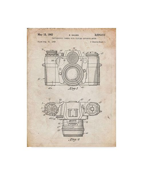 "Trademark Innovations Cole Borders 'Camera' Canvas Art - 24"" x 18"" x 2"""