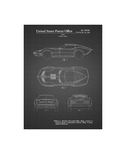 "Trademark Innovations Cole Borders 'Car 8' Canvas Art - 24"" x 18"" x 2"""