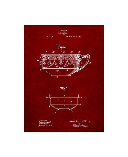 "Trademark Global Cole Borders 'Tea Cup' Canvas Art - 19"" x 14"" x 2"""