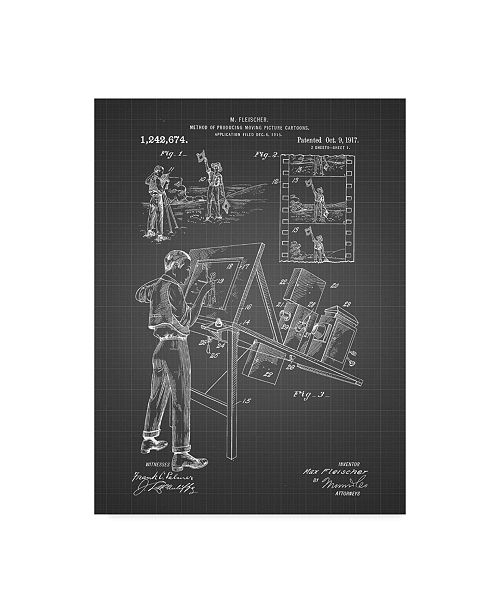 "Trademark Global Cole Borders 'Technical Drawing' Canvas Art - 47"" x 35"" x 2"""