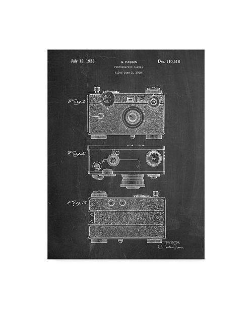"Trademark Global Cole Borders 'Vintage Camera' Canvas Art - 24"" x 18"" x 2"""