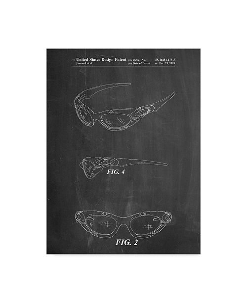 "Trademark Innovations Cole Borders 'Glasses' Canvas Art - 47"" x 35"" x 2"""