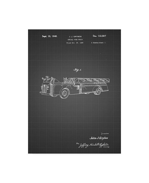 "Trademark Global Cole Borders 'Vintage Truck' Canvas Art - 24"" x 18"" x 2"""