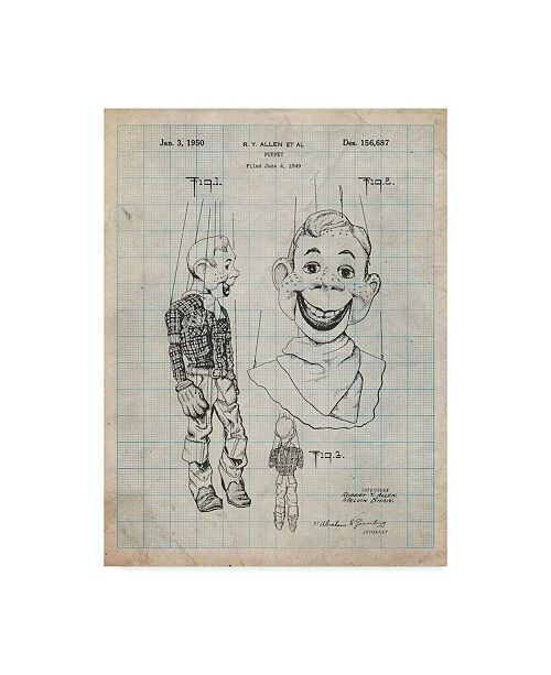"""Trademark Global Cole Borders 'Howdy Doody Marionette' Canvas Art - 24"""" x 18"""" x 2"""""""