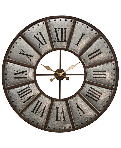 StyleCraft Galvanized Metal Wall Clock