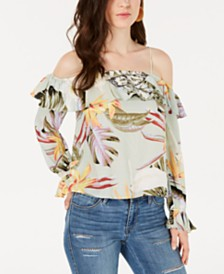 GUESS Dorthy Printed Off-The-Shoulder Top
