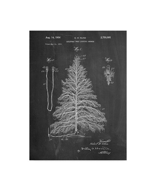 "Trademark Innovations Cole Borders 'Christmas Tree 1' Canvas Art - 32"" x 24"" x 2"""