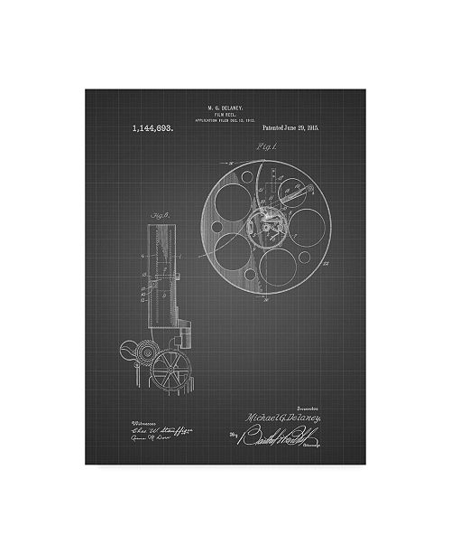 "Trademark Innovations Cole Borders 'Film Reel' Canvas Art - 19"" x 14"" x 2"""