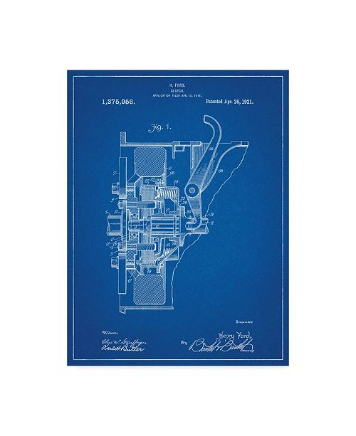 """Trademark Innovations Cole Borders 'Ford Clutch' Canvas Art - 47"""" x 35"""" x 2"""""""