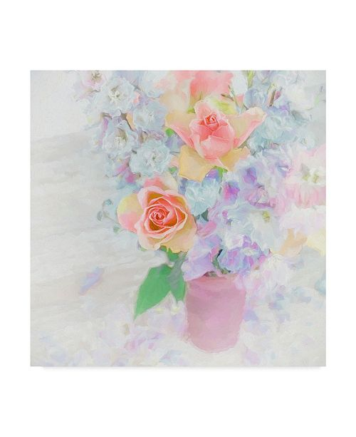 "Trademark Global Cora Niele 'Larkspur And Roses' Canvas Art - 35"" x 35"" x 2"""