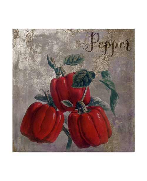 """Trademark Global Color Bakery 'Medley Gold Peppers' Canvas Art - 14"""" x 14"""" x 2"""""""
