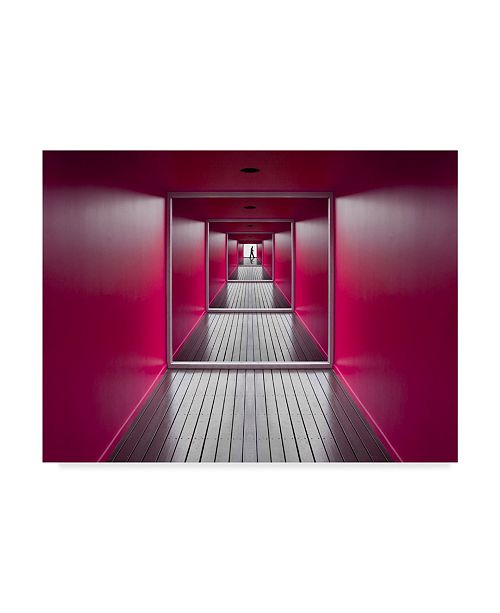 "Trademark Global Jacqueline Hammer 'Exit' Canvas Art - 24"" x 2"" x 18"""