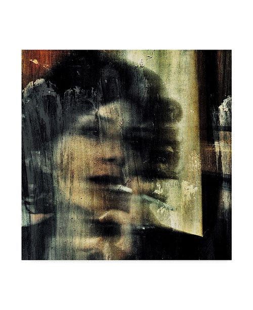 "Trademark Global Dalibor Davidovic 'Abstract Portrait' Canvas Art - 14"" x 2"" x 14"""