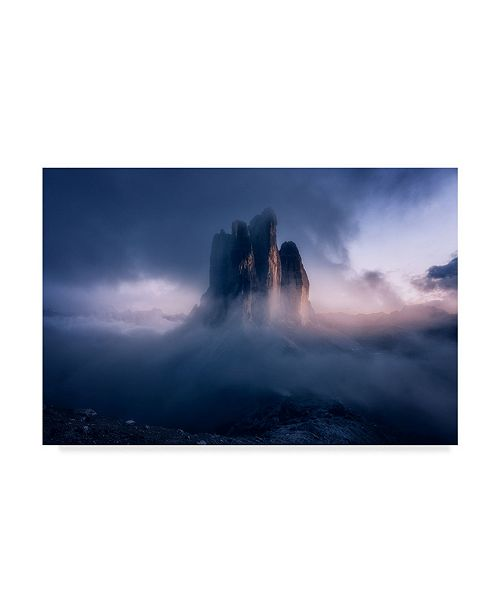 "Trademark Global David Martin Castan 'Cloudy Mountain' Canvas Art - 24"" x 2"" x 16"""