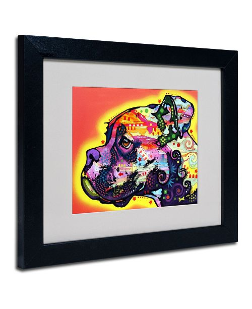 "Trademark Global Dean Russo 'Profile Boxer' Matted Framed Art - 14"" x 11"" x 0.5"""