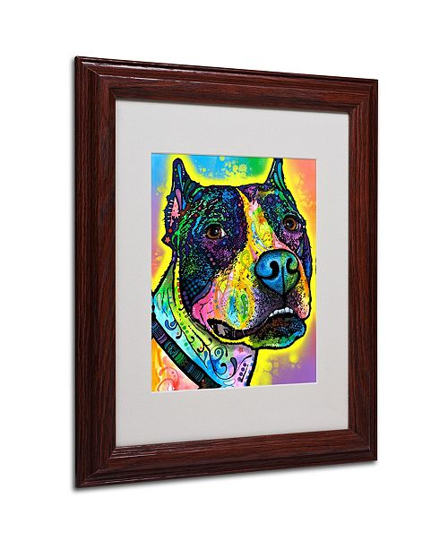 """Trademark Global Dean Russo 'Justice' Matted Framed Art - 11"""" x 14"""" x 0.5"""""""