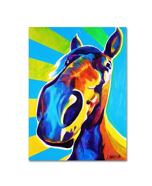 "Trademark Global DawgArt 'Chips' Canvas Art - 35"" x 47"" x 2"""