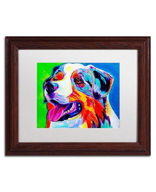 """Trademark Global DawgArt 'Aussie' Matted Framed Art - 11"""" x 14"""" x 0.5"""""""