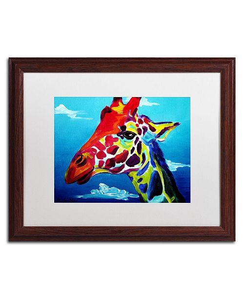 """Trademark Global DawgArt 'Giraffe' Matted Framed Art - 16"""" x 20"""" x 0.5"""""""