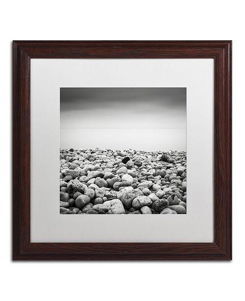 """Trademark Global Dave MacVicar 'Pebble Beach' Matted Framed Art - 16"""" x 16"""" x 0.5"""""""
