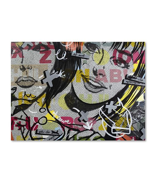 "Trademark Global Dan Monteavaro 'Apologies' Canvas Art - 32"" x 24"" x 2"""
