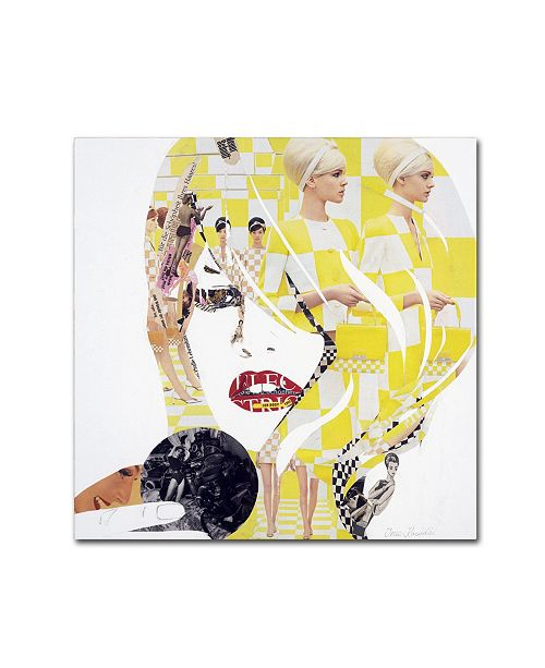 "Trademark Global Ines Kouidis 'Brigitte' Canvas Art - 14"" x 14"" x 2"""