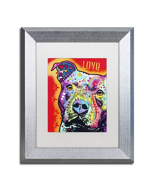 "Trademark Global Dean Russo 'Thoughtful Pitbull' Matted Framed Art - 14"" x 11"" x 0.5"""