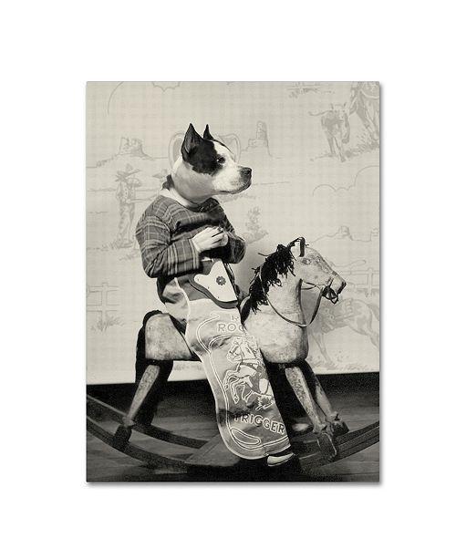 "Trademark Global J Hovenstine Studios 'Dog Series #4' Canvas Art - 19"" x 14"" x 2"""