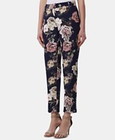Tahari ASL Floral-Print Ankle Pants