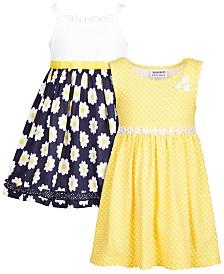 Blueberi Boulevard Baby Girls 2-Pk. Daisy Dresses