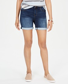 Style & Co Cuffed Denim Bermuda Shorts, Created for Macy's