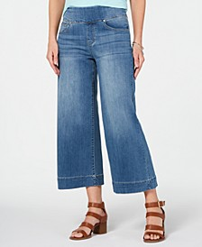 Wide-Leg Cropped Pull-On Jeans, Created for Macy's