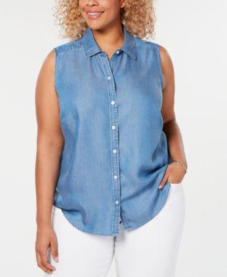 Charter Club Plus Size Sleeveless Shirt Created for Macys