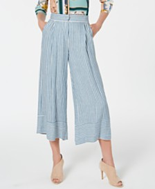 Marella Gargano Striped Wide-Leg Pants