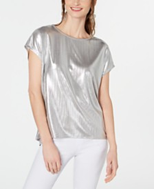 I.N.C. Silver Shine T-Shirt, Created for Macy's