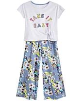 9401e0fd9d4e Epic Threads Big Girls Side-Tie T-Shirts & Floral-Print Culottes,