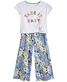 Epic Threads Big Girls Side-Tie T-Shirts & Floral-Print Culottes, Created for Macy's