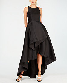 Adrianna Papell High-Low Mikado Gown, Regular & Petite Sizes