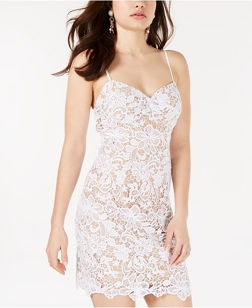 GUESS Sleeveless Lace Bodycon Dress