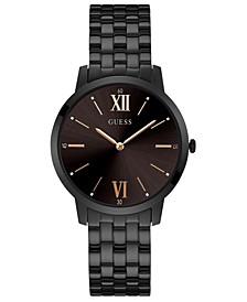Men's Broker Black Stainless Steel Bracelet Watch 39mm