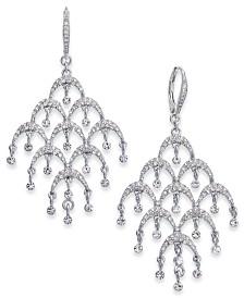 I.N.C. Silver-Tone Pavé Chandelier Drop Earrings, Created for Macy's