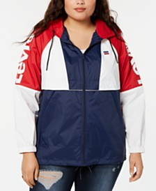 Levi's® Trendy Plus Size Hooded Water-Resistant Jacket