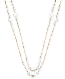 "I.N.C. Rose Gold-Tone Beaded Statement Necklace, 60"" + 3"" extender, Created for Macy's"