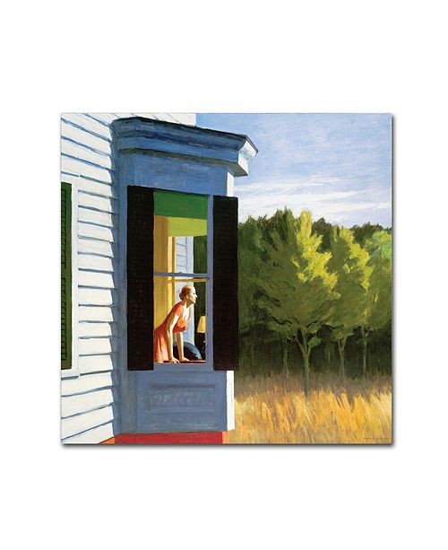 "Trademark Global Edward Hopper 'Cape Cod Morning' Canvas Art - 35"" x 35"" x 2"""