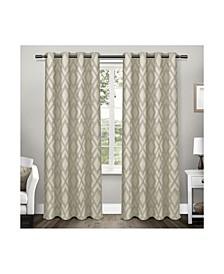 Easton Jacquard Blackout Grommet Top Curtain Panel Pair