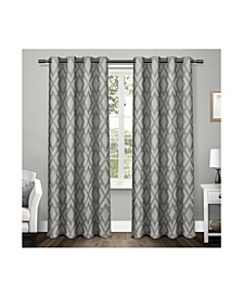 """Easton Jacquard Blackout Grommet Top Curtain Panel Pair, 54"""" x 96"""""""